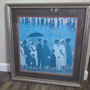 Ellis Wilson Funeral Procession Framed Matted Art